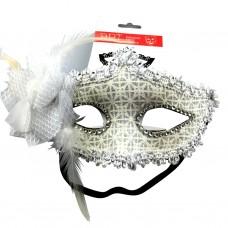 GlitterStar Mask W/FlowerWhite