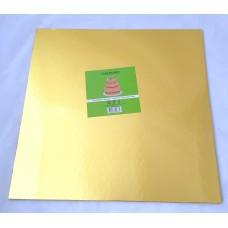 Cake Board Square - Gold Foil 14