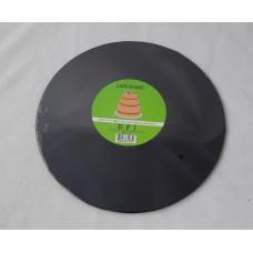 Cake Board Round - Black Foil 10