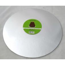Cake Board Round - Silver Foil 12