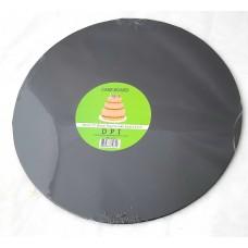 Cake Board Round - Black Foil 12