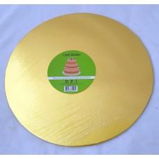 Cake Board Round - Gold Foil 12