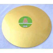 Cake Board Round - Gold Foil 14