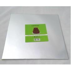 Cake Board Square - Silver Foil 10