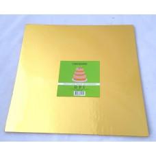Cake Board Square - Gold Foil 12