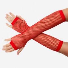 Fishnet Glove long black