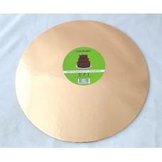 Cake Board Round - Rose Gold Foil 30 cm 4 mm