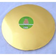 Cake Board Round - Gold Foil 35cm 12mm