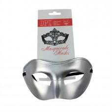 Plastic Masquerade Mask Silver