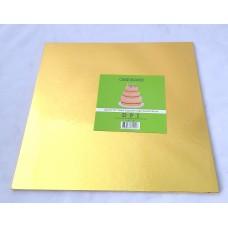 """Cake Board Square - Gold Foil 10""""  4mm"""