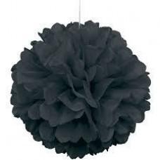 20CM Puff Ball Black