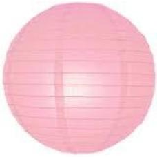 20CM Lantern 2Pack Light Pink
