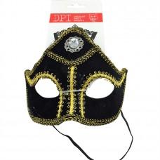 Black & Gold Mask W Diamond