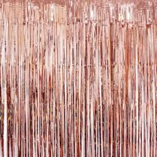 Tinsel Curtain Rose Gold
