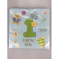 1st B/D Boy napkins