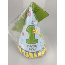 1st B/D Boy cone hats 8pcs