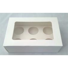 Cup Cake Box 6 cup 26 cm x 17 cm x 8 cm