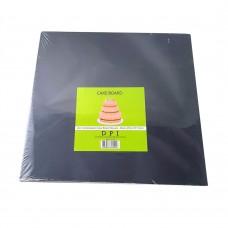 "Compressed Cake Board Square - Black 10"" 2mm"