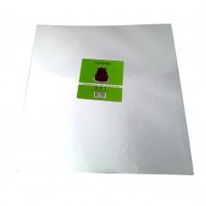 """Cake Board Square - Silver Foil 14"""" 4mm"""