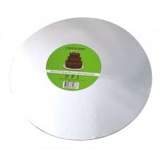 """Cake Board Round - Silver Foil 10"""" 4MM"""