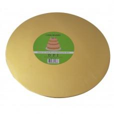 "Cake Board Round - Gold Foil 10"" 4mm"