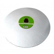 """Cake Board Round - Silver Foil 12"""" 4mm"""