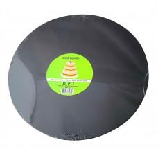 "Cake Board Round - Black Foil 12"" 4mm"