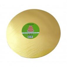 "Cake Board Round - Gold Foil 12"" 4mm"