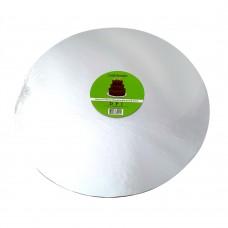 """Cake Board Round - Silver Foil 14"""" 4mm"""