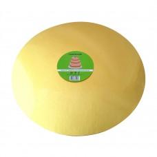 "Cake Board Round - Gold Foil 14"" 4mm"
