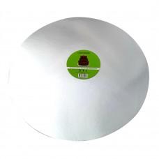 """Cake Board Round - Silver Foil 16"""" 4mm"""