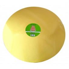 "Cake Board Round - Gold Foil 16"" 4mm"