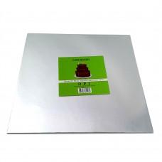 """Cake Board Square - Silver Foil 10"""" 4mm"""