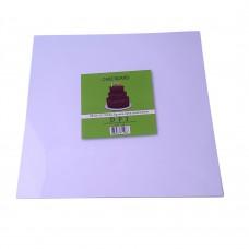 """Cake Board Square - White Foil 10""""  4mm"""
