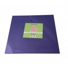 "Cake Board Square - Black Foil 10""  4mm"