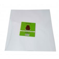 """Cake Board Square - White Foil 12""""  4mm"""