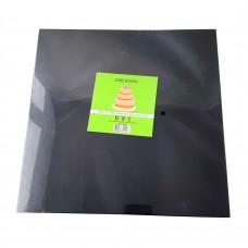 "Cake Board Square - Black Foil 12""  4mm"