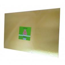 "Cake Board Rectangle - Gold Foil 12x18"" 4mm"
