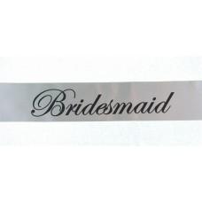 Bridesmaid sash Silver