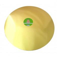 "Cake Board Round - Gold Foil 20"" 4mm"