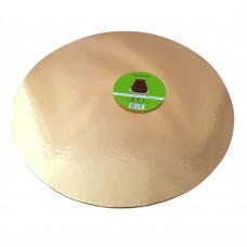 Cake Board Round - Rose Gold Foil 40 cm 4 mm
