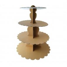 4 Tier Kraft Cupcake Stand LARGE