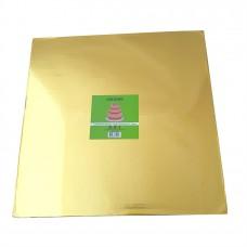Cake Board Square - Gold Foil 40cm 12mm