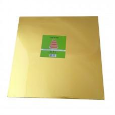 Cake Board Square - Gold Foil 35cm 12mm