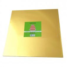 Cake Board Square - Gold Foil 30cm 12mm