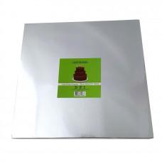 Cake Board Square - Silver 30cm 12mm