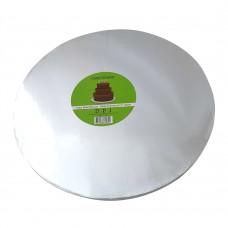 Cake Board Round - Silver Foil 30cm 12mm