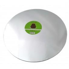 Cake Board Round - Silver Foil 35cm 12mm