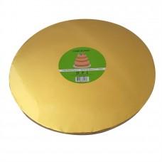 Cake Board Round - Gold Foil 30cm 12mm