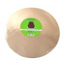 Cake Board Round - Rose Gold Foil 25 cm 4 mm
